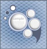 Abstract retro speech bubble/ Vector Illustration — Stock Vector
