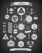 Hipster style elements and icons — Stock Vector