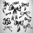Vector bow collection. — Stock Vector