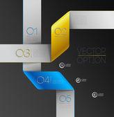 Elementos de diseño para las opciones — Vector de stock