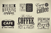 Set of coffee , cafe typographic elements — Stock Vector