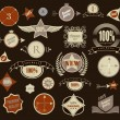 Set of retro vintage labels. Vector illustration. — Stockvectorbeeld
