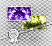Diamond business cards. Vector illustration — Stock Vector
