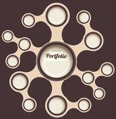 Retro web design template. Retro bubble — Stock Vector