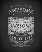 Chalk typography, calligraphic design elements — Stock Vector