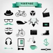 Hipster style elements, icon and object can be used for — Stock Vector