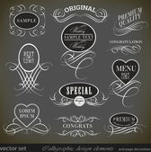 Calligraphic design elements and page decoration/ vector set — Stock Vector