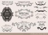 書道のデザイン要素 — ストックベクタ
