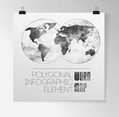 World Map and typography — Vector de stock