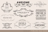 书法设计元素 — 图库矢量图片