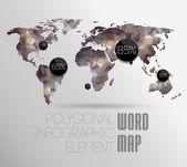 世界地図背景 — Stockvektor