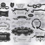 Calligraphic design elements — Stock Vector #35853025
