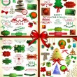 Kerstmis pictogrammen set.vector illustratie — Stockvector