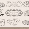 Stock Vector: Set of calligraphic design elements