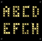 Vector gold font — Stock Vector
