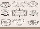 Set of calligraphic design elements — Stock Vector