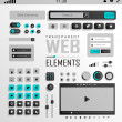 Vector Web Elements, Buttons and Labels. Site Navigation. — Stock Vector