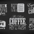 Set of coffee labels — Stock Vector #36988023