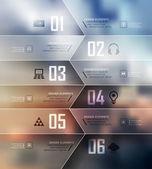 Opties banner — Stockvector