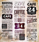 Set Of Vintage Retro Coffee — Stock Vector