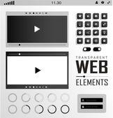 Un vector de elementos web, botones y etiquetas. navegación del sitio. — Vector de stock