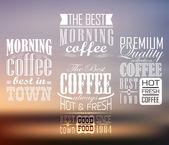 Premium kalite kahve — Stok Vektör