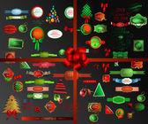 Christmas icons set.Vector illustration — Stock Vector