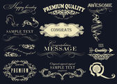 éléments de dessin calligraphique — Vecteur
