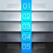 Clean numbered banners for sample text.Vector design template. — Vettoriali Stock