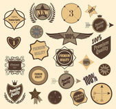 Set of retro vintage labels. Vector illustration. — Stock Vector