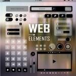un vector de elementos web, botones y etiquetas. navegación del sitio — Vector de stock  #37352695