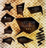 Polygonal black bubble, label — Vector de stock