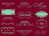 Calligraphic design elements — Vetorial Stock