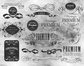 Kalligrafische ontwerpelementen — Stockvector