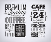 Set of coffee labels — Stock Vector