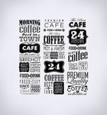 Set Of Vintage Retro Coffee — Stockvector