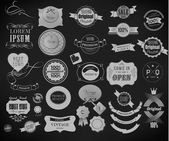 Set of vintage retro labels — Vector de stock