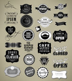 Set of vintage retro labels — Stock Vector