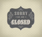 Retro signs Open and Closed. Vector illustration. — Stock Vector