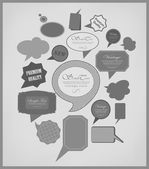 The new retro speech bubbles — Vector de stock
