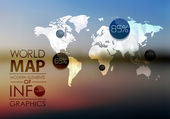World Map and Information Graphics — Stock Photo