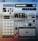 Wektor web elementy, przyciski i etykiety. nawigacji w witrynie. — Wektor stockowy