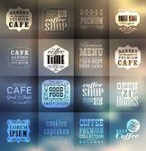 Retro ekmek etiketleri ve tipografi — Stok Vektör