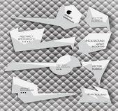 Etiquetas abstractas — Vector de stock