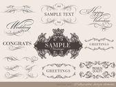 Desenho caligráfico — Vetor de Stock