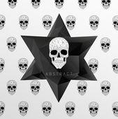 Dark Graveyard Background — Stock Vector