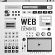 Vector Web Elements, Buttons and Labels. Site Navigation. — Vector de stock