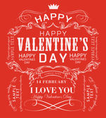 Happy valentines day — Vettoriale Stock