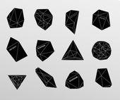 Hipster hintergrund hergestellt aus dreiecken und weltraum-hintergrund — Stockvektor