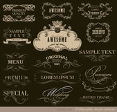 Elementos de design de caligrafia — Vetor de Stock